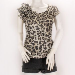 New York and Company Leopard Print Top